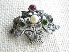 Pearl Silver Brooch/Pin Vintage Fine Jewellery