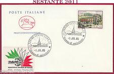 ITALIA FDC CAVALLINO VILLE D'ITALIA VILLA NITTI MARATEA 1985 ANNULLO TORINO Y883
