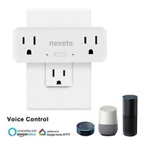 Smart Wifi 2 in 1 Plug Outlet Swtich Work With Echo Alexa Google Home App Remote