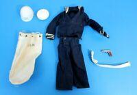 GI Joe 1964 Action Sailor Shore Patrol Lot Full Zipper Shirt - All Original