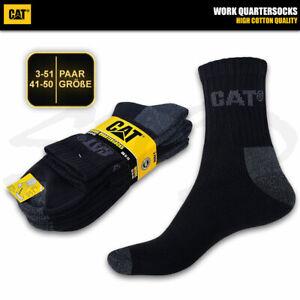 CAT CATERPILLAR WORK QUARTERSOCKS Kurze Arbeitssocken Quarters Kurzschaft Socken