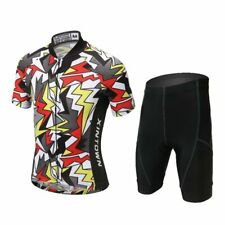 Children Youth Cycling Jersey Set 2019 Trousers short Sleeve Padding