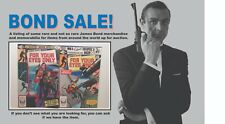 """James Bond 007 """"For Your Eyes Only"""" 1 & 2 Comic Books - Stan Lee"""
