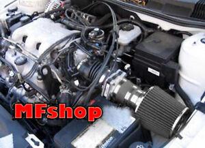 All Black For 1999-2005 Pontiac Grand AM 3.4L V6 GT GT1 SE1 SE2 Air Intake Kit