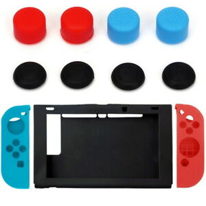 11 in 1 For Nintendo Switch Silicone Case Cover + Joystick Cap Anti-Slip Jon-Con