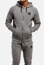 LG  adidas Originals MEN'S  ESSENTIALS  FZ  TRACK HOODIE &  PANTS  Gray LAST 1