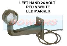 LEFT HAND RUBBER 90 DEGREE LED STALK 24V RED/WHITE SIDE END MARKER LAMP/LIGHT