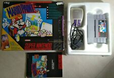 Mario Paint - SNES - Cartridge/Box/Mouse/1 Manual - MISSING MOUSEPAD - Authentic