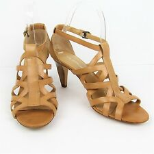 Via Spiga Strappy Sandals 7.5 M Leather Beige High Heels Italy Quality