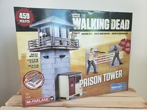 The Walking Dead Prison Tower Building Set NEW SEALED 459pcs 14561 McFarlane Toy