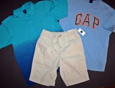 BOYS LOT OF 3 SHORTS AND SHIRTS all Gap Kids Size 8 & 10 Shorts are NWT