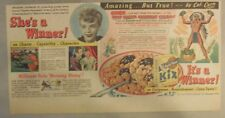 """Kix Cereal Ad: """"Carolina Playmakers"""" from 1930's-1940's 7.5 x 15 inches"""