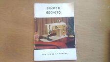 singer 650/670 golden panoramic instruction book