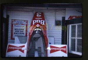 Mario Andretti Garage Scene - 1983 CART Indianapolis 500 - Vtg 35mm Race Slide