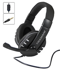 Gaming Headset Stereo 1x 3,5 mm Klinke PS4 PC XBox One Smartphone Mac by Tramani