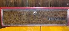 73-79 Ford Truck F150 F250 F350 Woodgrain & Burgundy RANGER Glove Box Door OEM