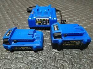Kobalt 24v Battery 2.0ah, 4.0ah, & Charger
