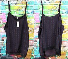 Penningtons Red Blue Diamonds Lingerie Gown Top Size 3X Bohemian Black Lace