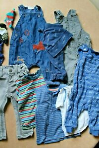 Large Baby Boy Clothes Bundle Age 3-6 Months Dungarees Tops Freepost Joblot