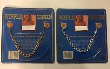 Nipple Chain non piercing set of two one gold one silver aluminum chains