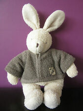 Moulin Roty bunny rabbit Theophile beige brown baby soft toy comforter plush