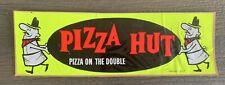 Vtg 70s PIZZA HUT Pizza Pete ON THE DOUBLE Bumper STICKER
