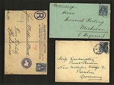 GB QV 1892/3 2½d Jubilee sg201 three different covers with transit marks Used