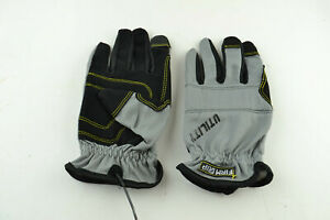 Firm Grip Utility Gloves GRAY with Elastic Band Closure Work Size L LG LARGE