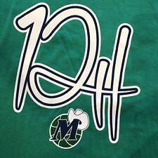Dallas Mavericks T-Shirt Derek Harper Jersey Retirement Ceremony 2018 XL Green