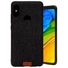 Cover Custodia Xiaomi Redmi Note 5 Global Originale Noziroh Tessuto Stoffa Nero