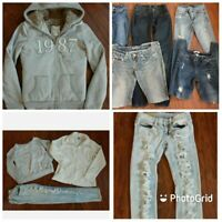 10pc Lot Lucky Brand BeBe Aero Distressed Skinny Jeans Jegging Sweaters Sz 25/0