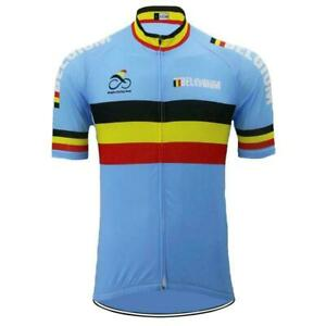 Belgium Retro Team Cycling Jerseys Cycling Short Sleeve Jersey