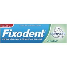 Fixodent Neutral Complete Denture Adhesive Cream Strong Hold Food Seal - 47ml