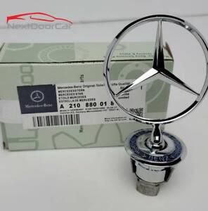OEM Mercedes-Benz Front Hood Ornament Mounted Star Logo Badge Emblem