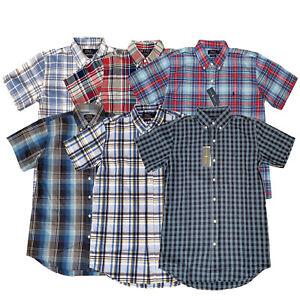 Ralph Lauren Authentic Mens Madras Cotton Check Short Sleeve Button Up Shirts