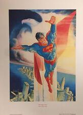 The Soaring Eagle Superman Litho Signed by Artist Jose Luis Garcia Lopez