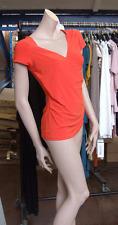 Joseph Ribkoff UK 10 BNWT Delightful Vibrant Orange Crossover Stretch Jersey Top