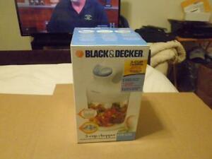 Black & Decker EHC650 3 Cups Food Processor NEW