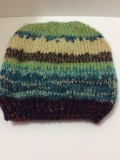 Michael Stars Womens Laced Knit Open-Stitch Ombre Slouch Hat