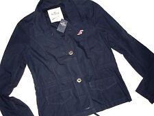 HOLLISTER womens Navy cotton JACKET  blazer size XS