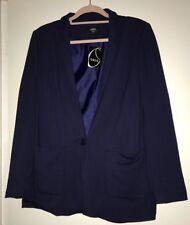 BNWT Ladies Oasis Navy Blue Blazer Style Jacket. Size 14