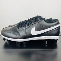 Men's Nike Air Jordan 1 Retro MCS Black Baseball Cleats CJ8524-001 Size 10.5