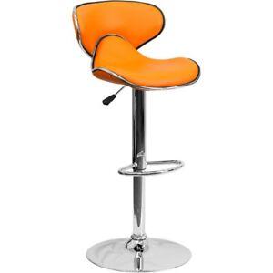 Flash Furniture Orange Contemporary Barstool, Orange - DS-815-ORG-GG