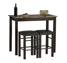 Small Kitchen Table with Stools Tall Set for 2 High Breakfast Pub Nook Bar Space