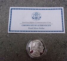 2001 Proof silver buffalo American Indian dollar commemorative with holder COA
