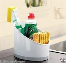 Fregadero ordenado 2 Separadores orificio de drenaje botellas de limpieza y utensilios de cocina
