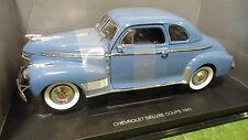 CHEVROLET DELUXE COUPE 1941 bleu o 1/18 UNIVERSAL HOBBIES 4358 voiture miniature