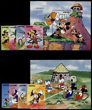 Lesotho 861-70 MNH Disney, Games, Mickey, Pluto, Minnie