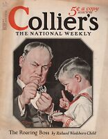 1922 Colliers December 16 - Winter Golf; Harvey Dunn; Uncle Sam plays Shylock