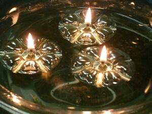 Aromaglow 100 Silver reusable floating candles wedding party table centrepieces
